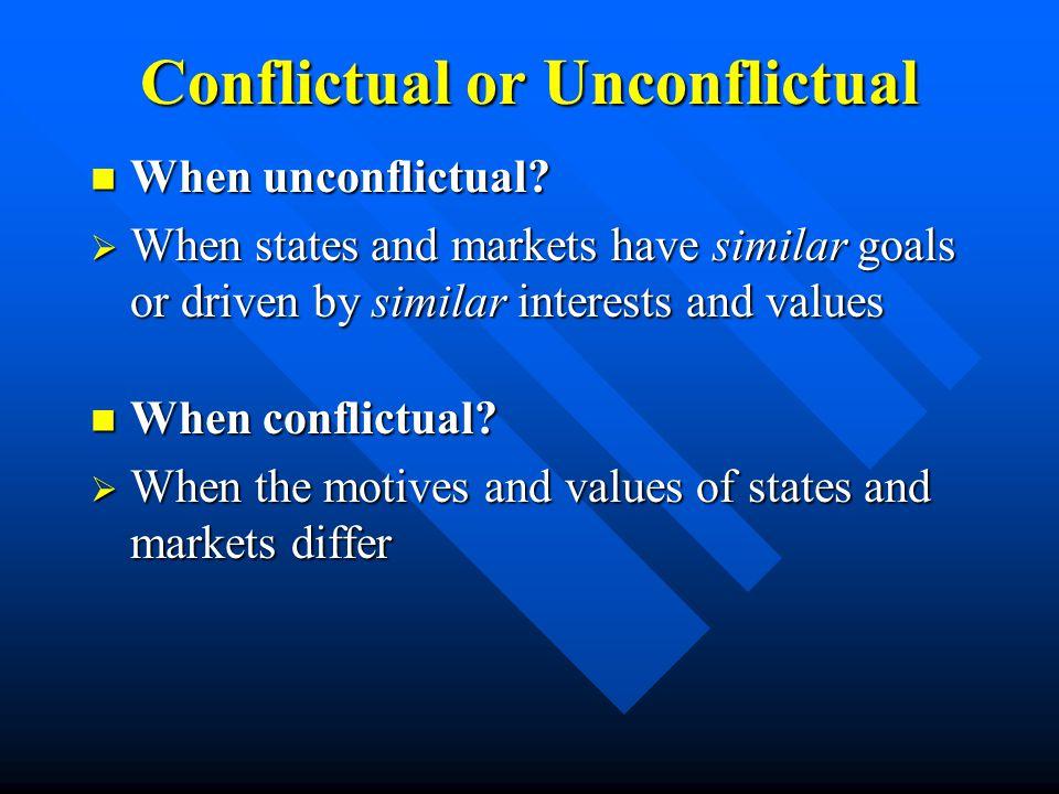 Conflictual or Unconflictual