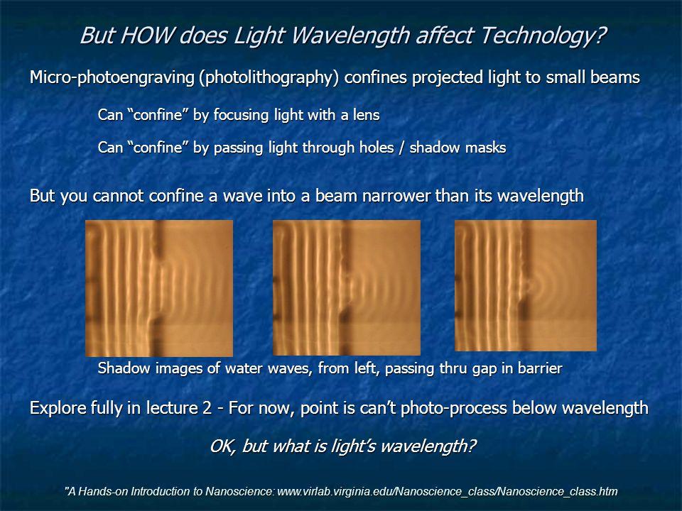 But HOW does Light Wavelength affect Technology