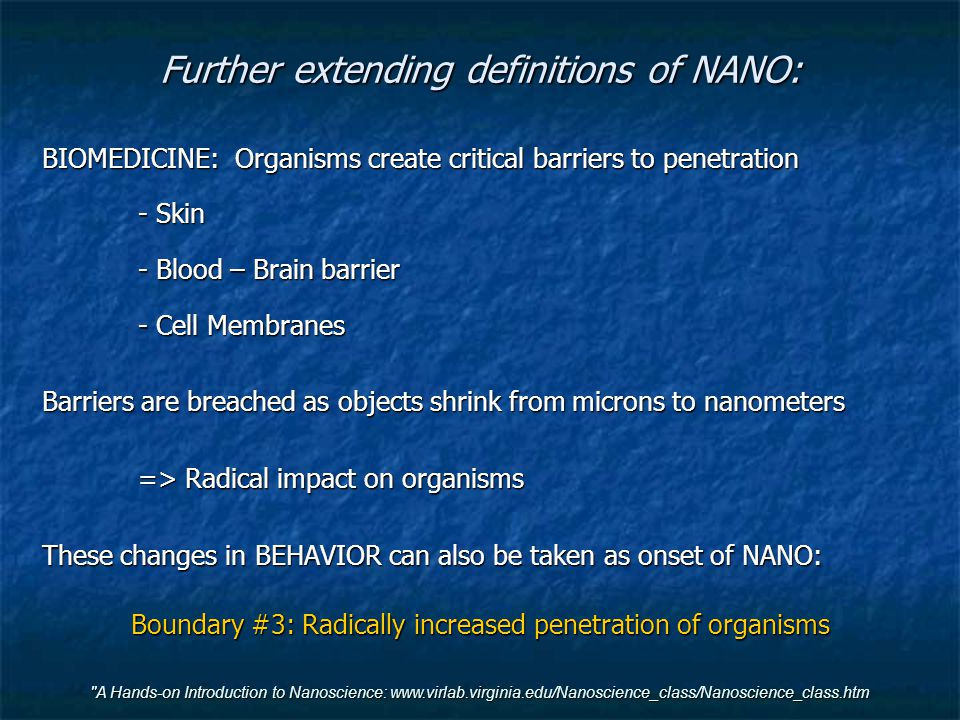 Further extending definitions of NANO:
