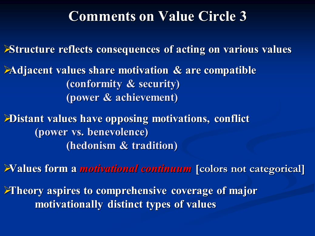 Comments on Value Circle 3