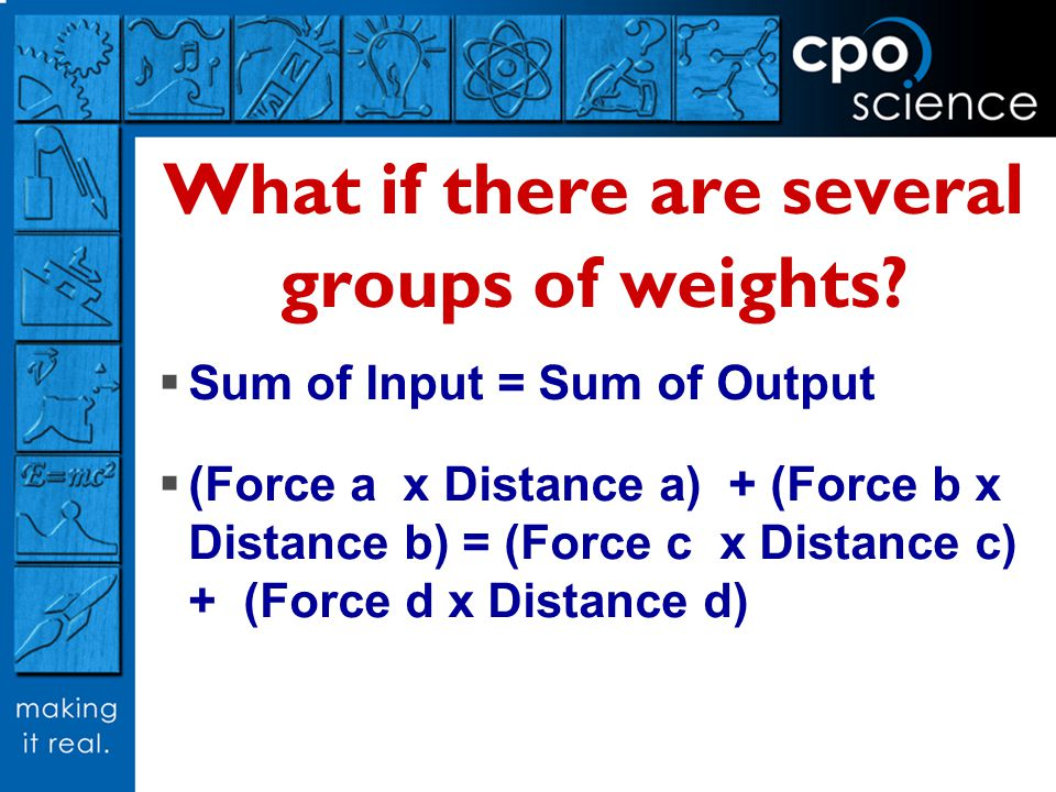 What if there are several groups of weights