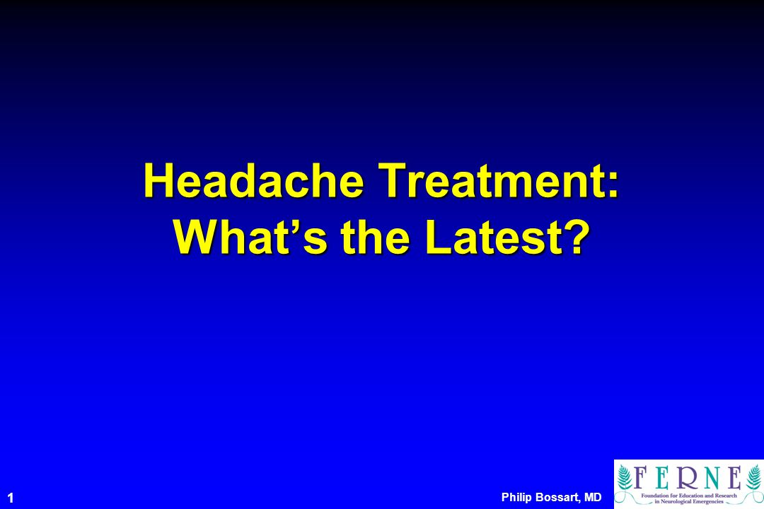 Headache Treatment: What's the Latest