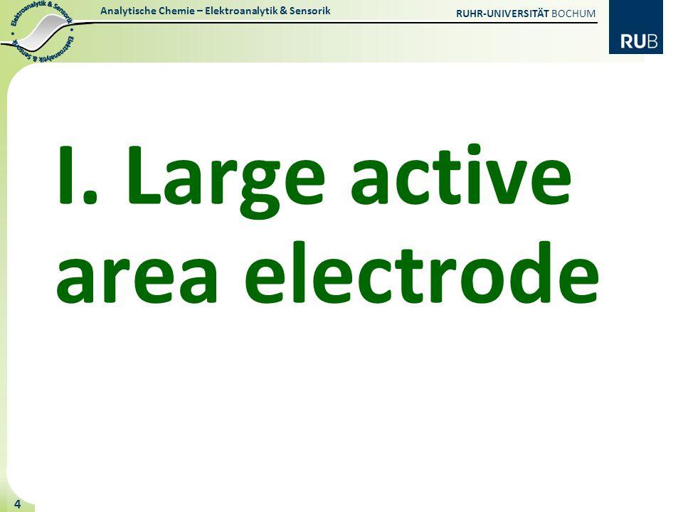 I. Large active area electrode