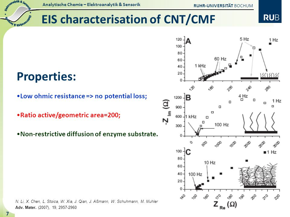 EIS characterisation of CNT/CMF