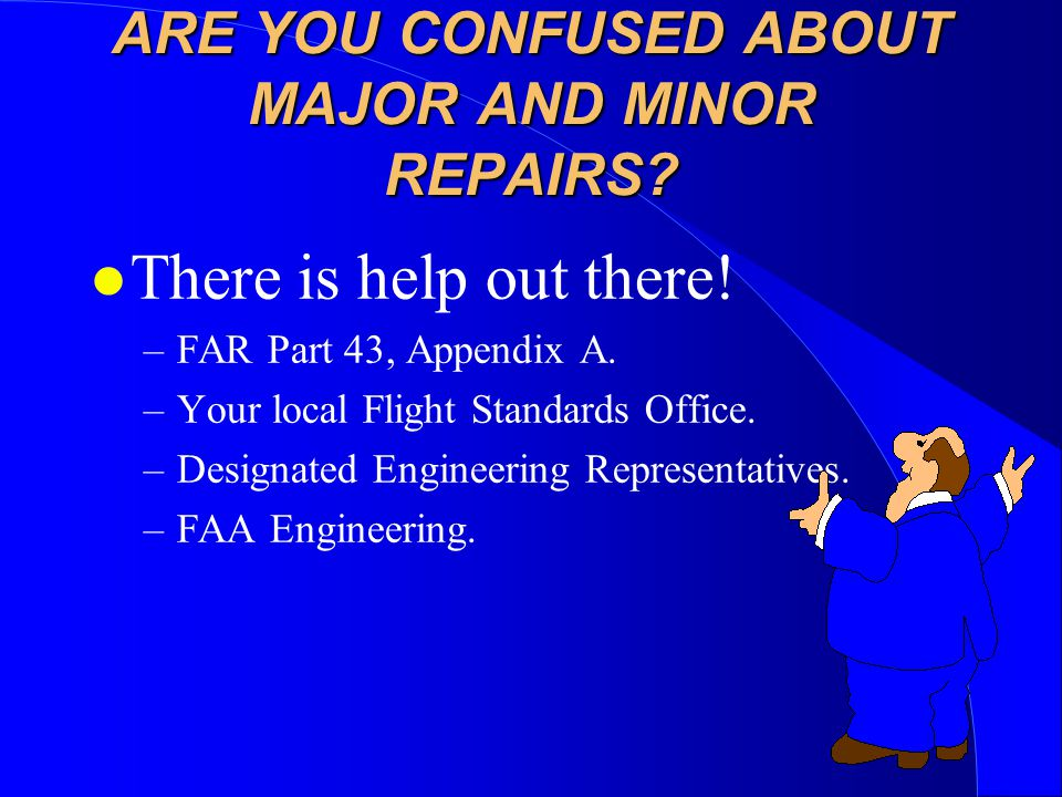 ARE YOU CONFUSED ABOUT MAJOR AND MINOR REPAIRS