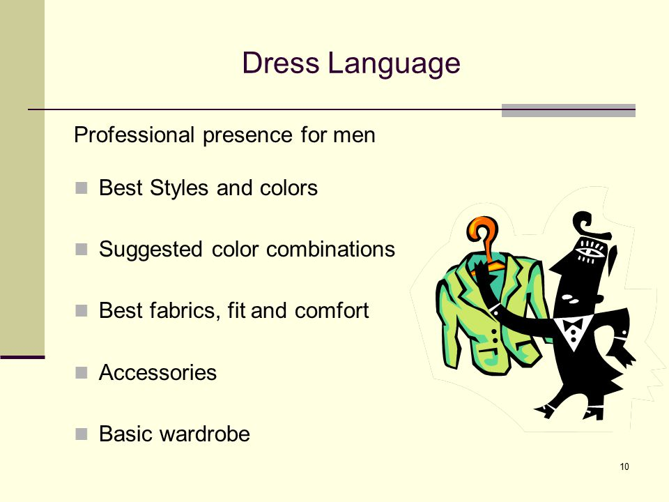 Dress Language Professional presence for men Best Styles and colors