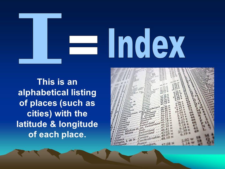 I Index.
