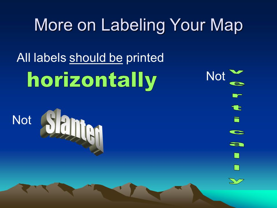 More on Labeling Your Map