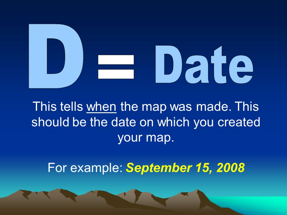 For example: September 15, 2008
