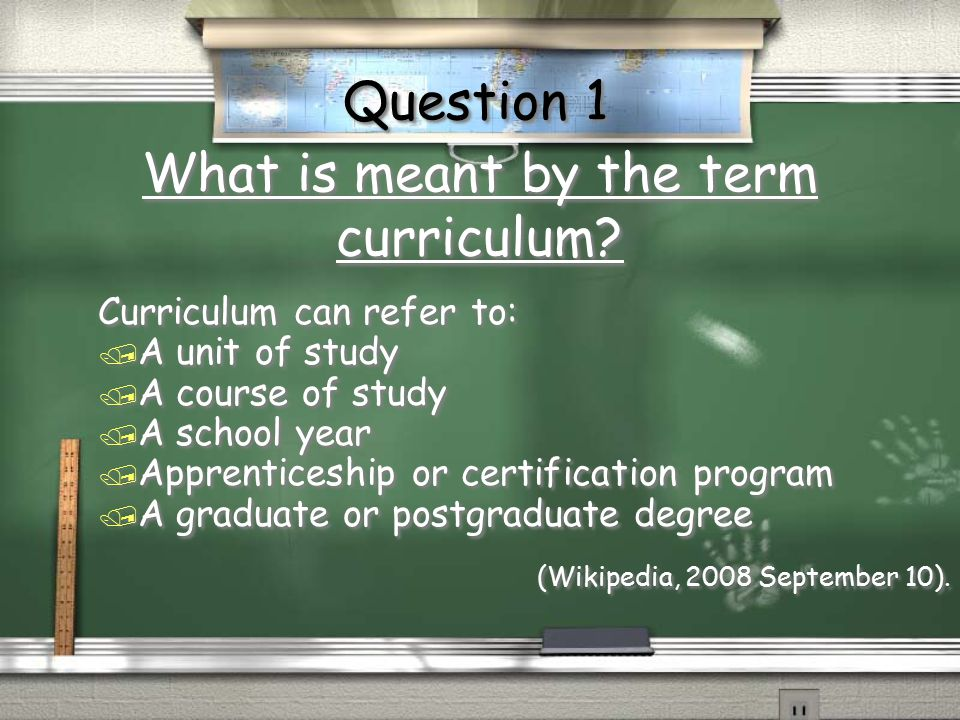 curriculum and instruction relationship paper topics