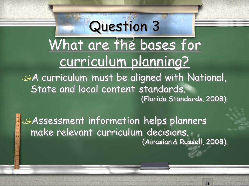 What are the bases for curriculum planning