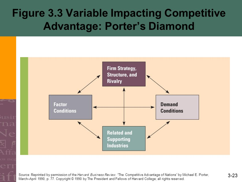 Figure 3.3 Variable Impacting Competitive Advantage: Porter's Diamond