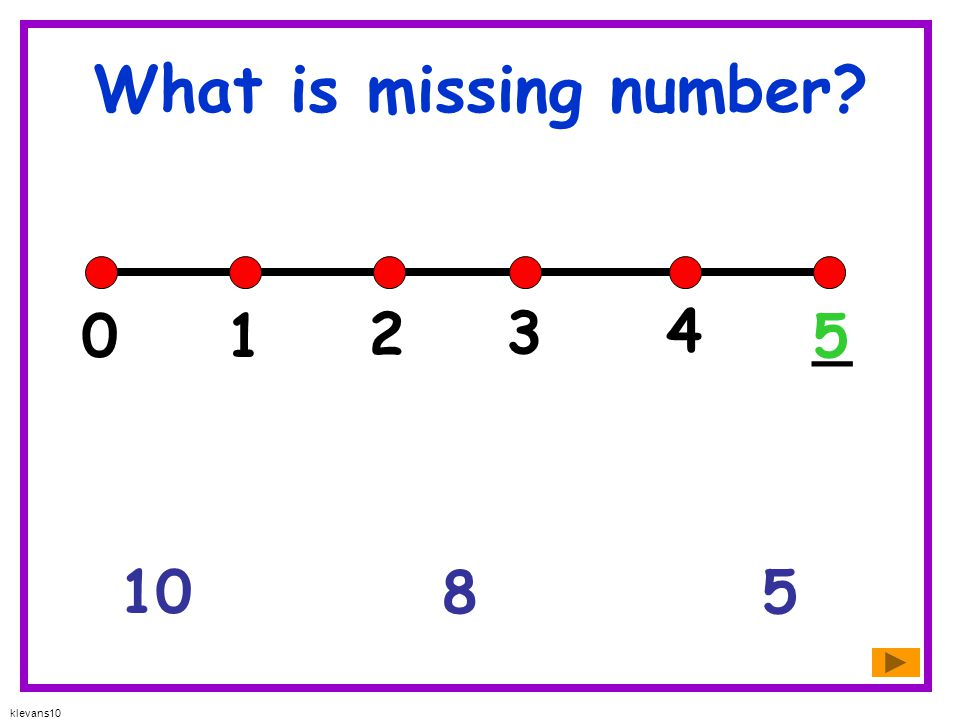 What is missing number 1 2 3 4 _ 5 10 8 5 klevans10