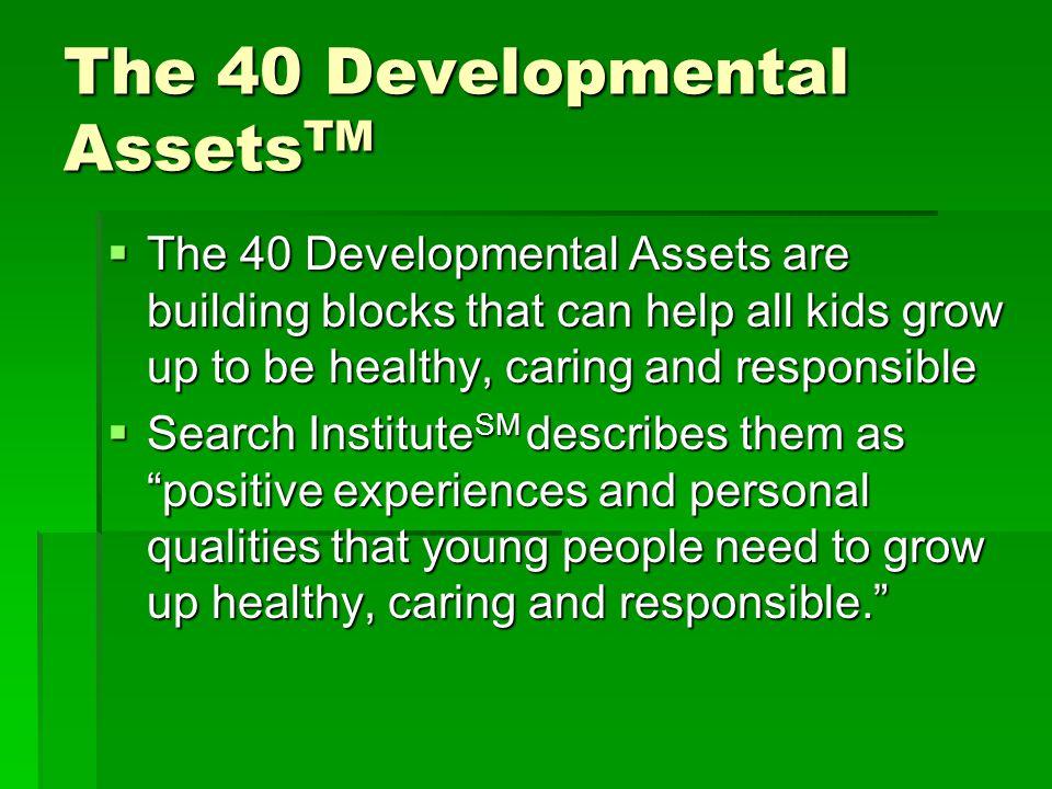 The 40 Developmental AssetsTM
