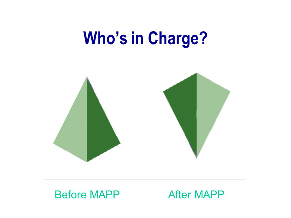 Who's in Charge Before MAPP After MAPP MAPP: