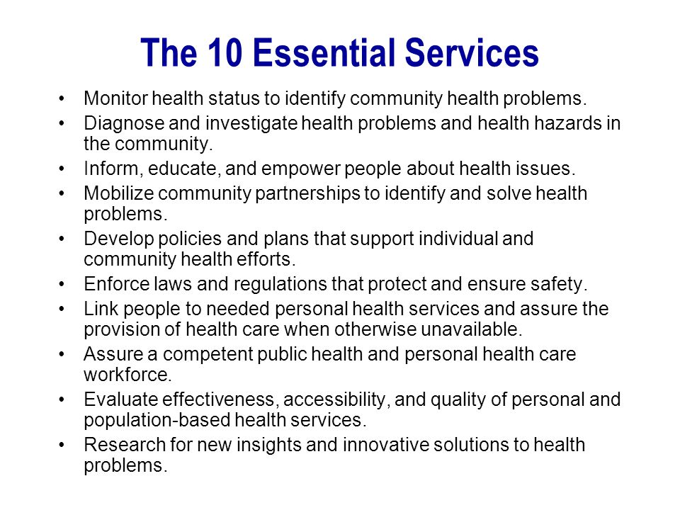 The 10 Essential Services