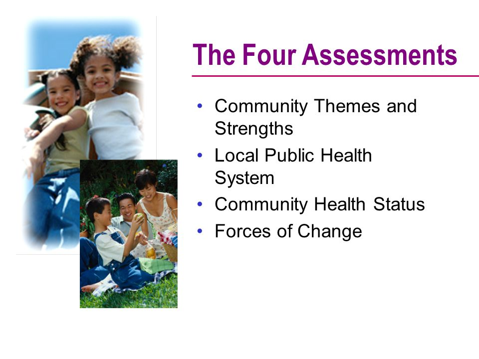 The Four Assessments Community Themes and Strengths