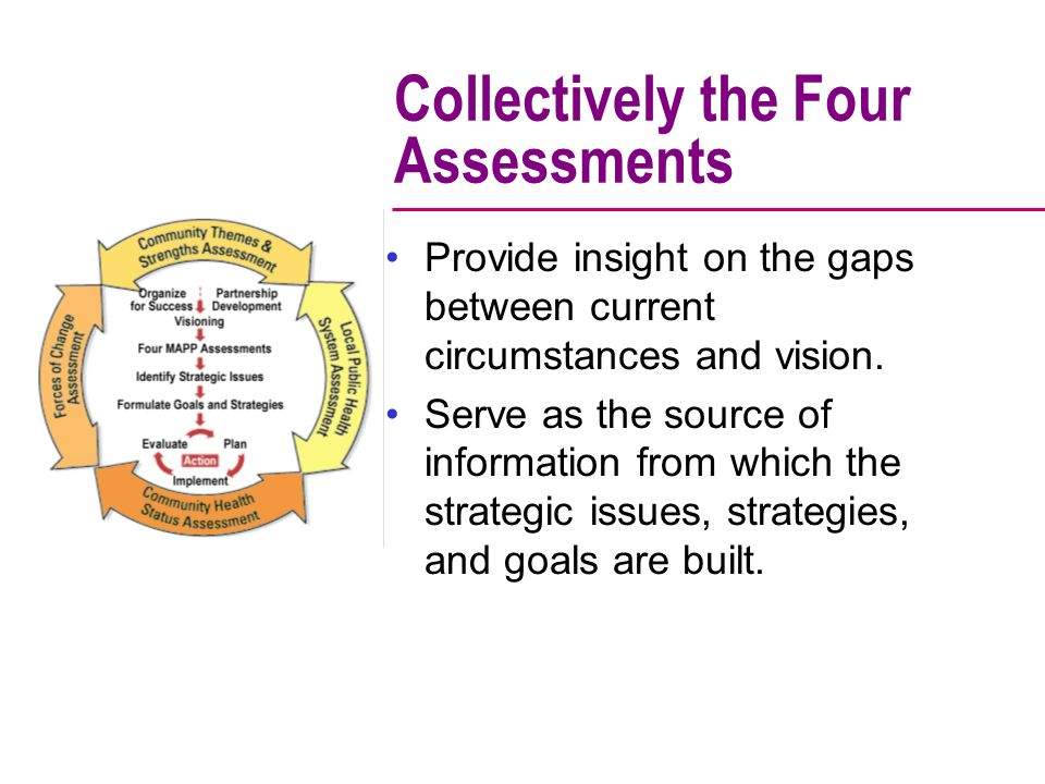 Collectively the Four Assessments