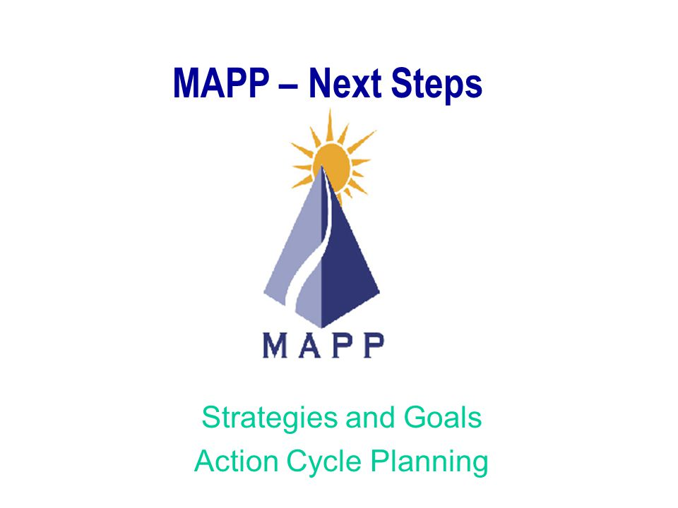 Strategies and Goals Action Cycle Planning