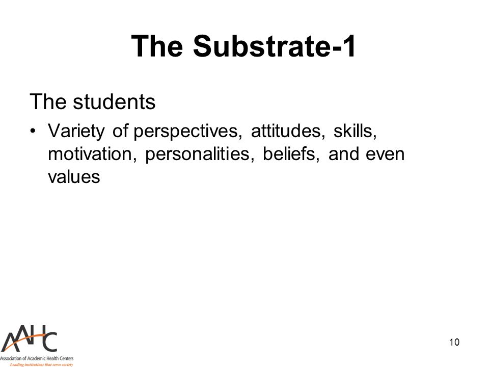 The Substrate-1 The students