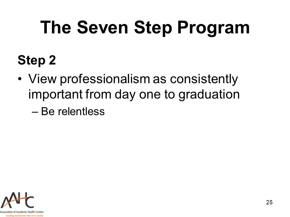 The Seven Step Program Step 2