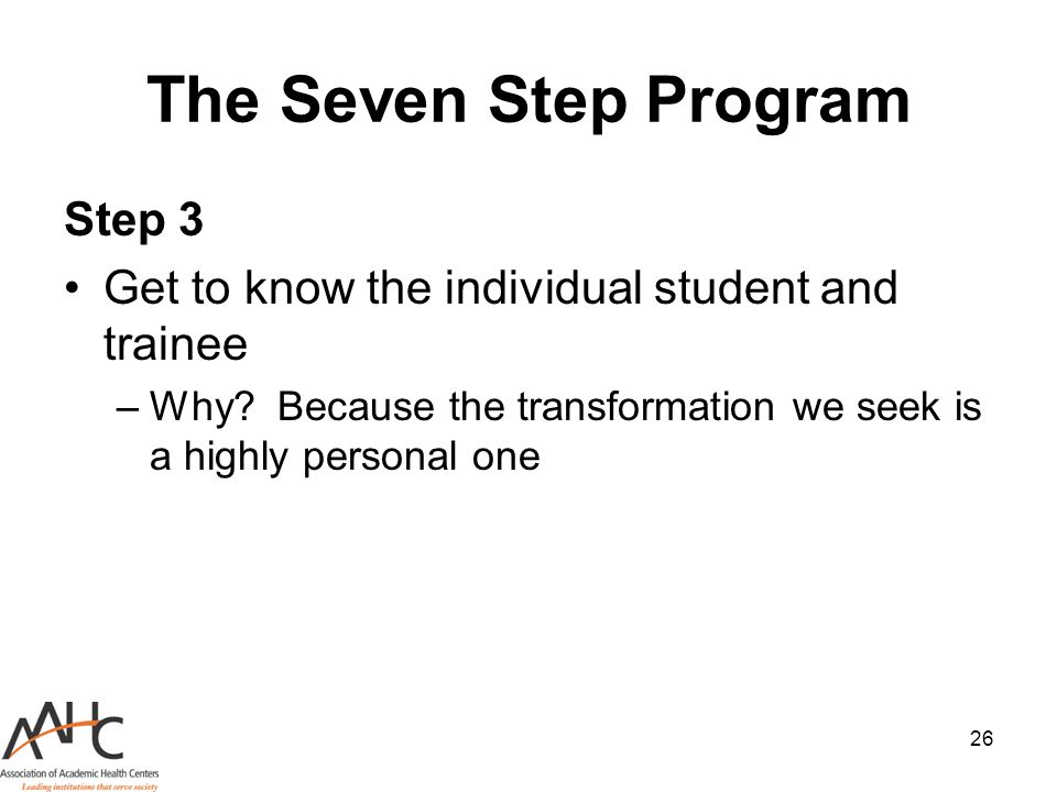 The Seven Step Program Step 3