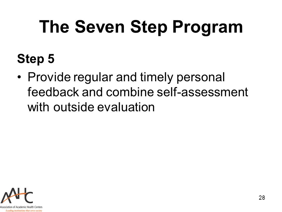 The Seven Step Program Step 5