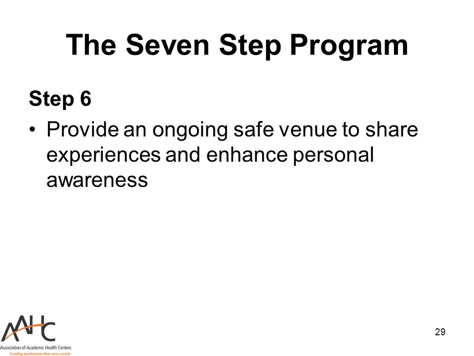 The Seven Step Program Step 6