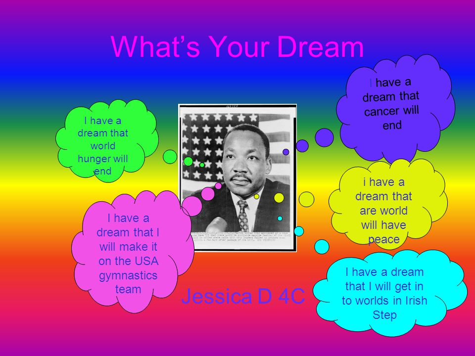 What's Your Dream Jessica D 4C I have a dream that cancer will end