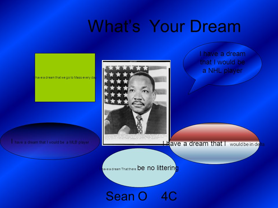 What's Your Dream Sean O 4C