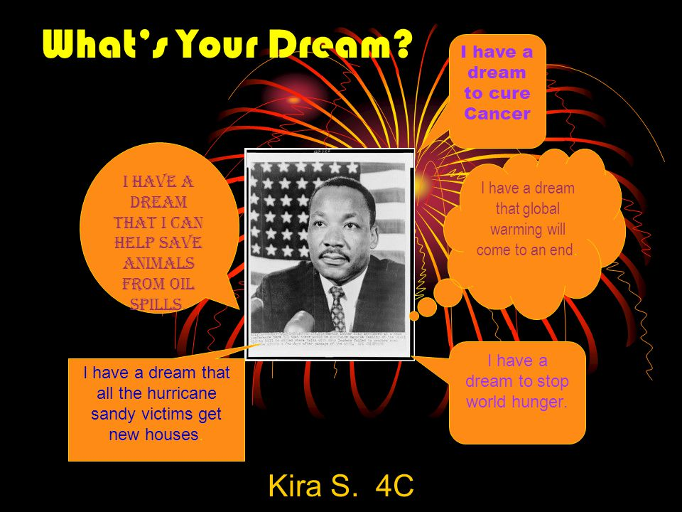 What's Your Dream Kira S. 4C I have a dream to cure Cancer