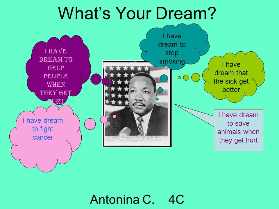 What's Your Dream Antonina C. 4C I have dream to stop smoking