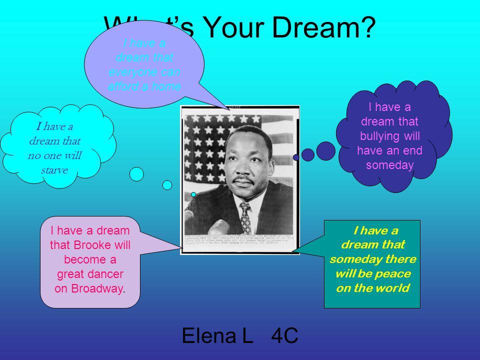 What's Your Dream Elena L 4C