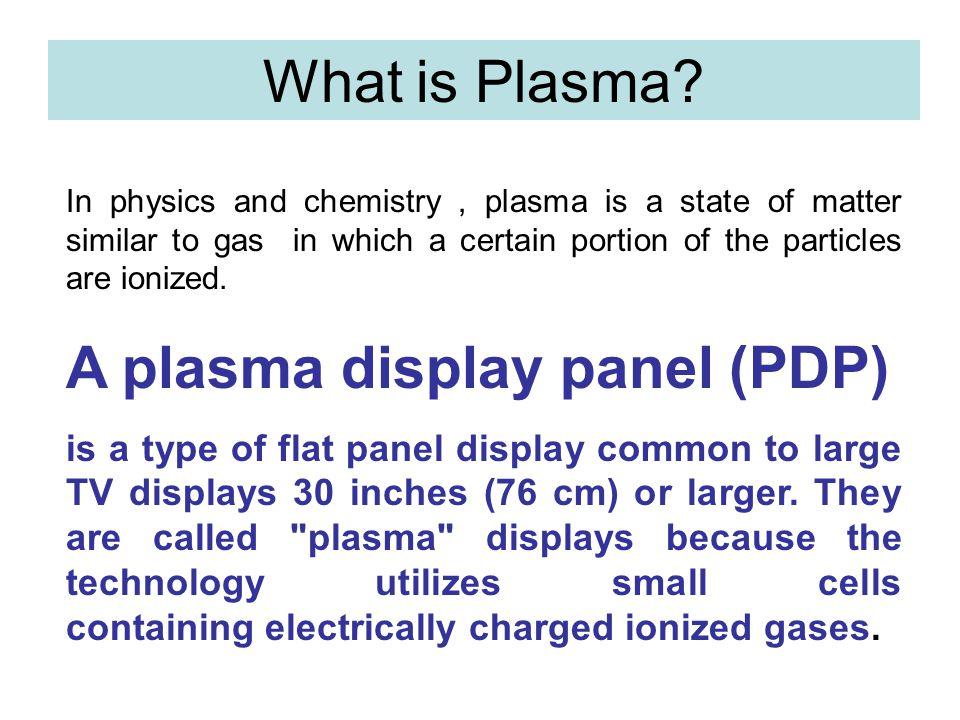A plasma display panel (PDP)