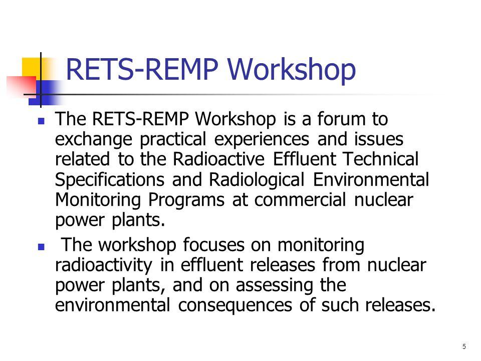RETS-REMP Workshop
