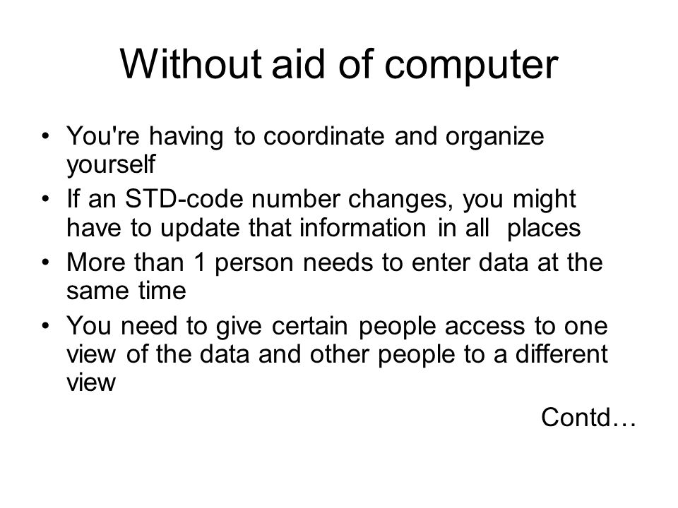 Without aid of computer