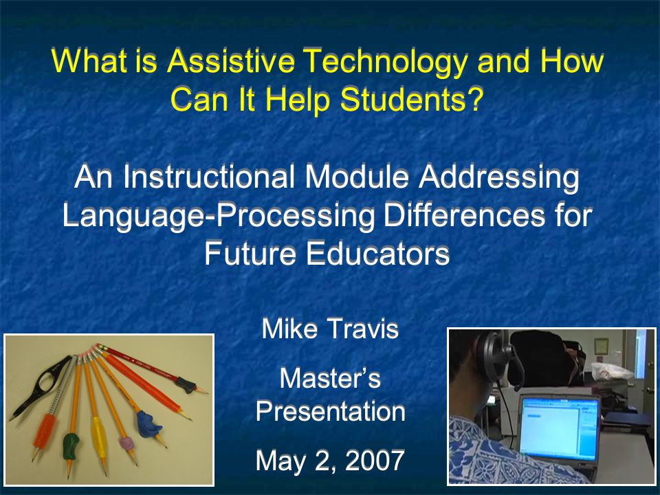 Mike Travis Master's Presentation May 2, 2007