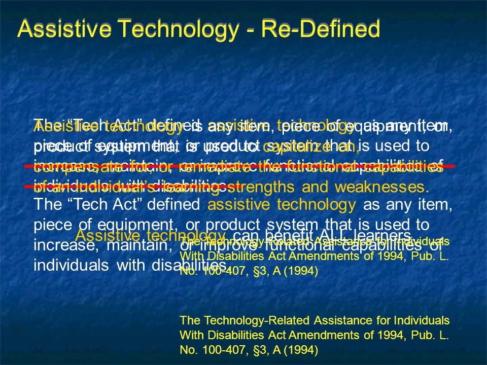 Assistive Technology - Re-Defined