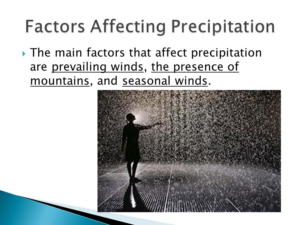 Factors Affecting Precipitation