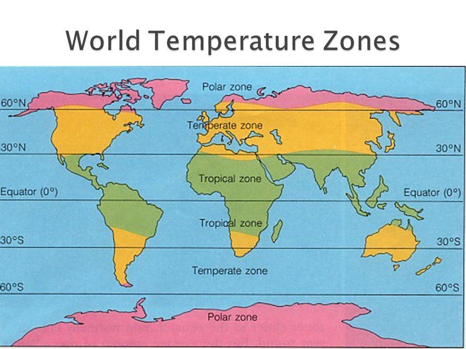 World Temperature Zones