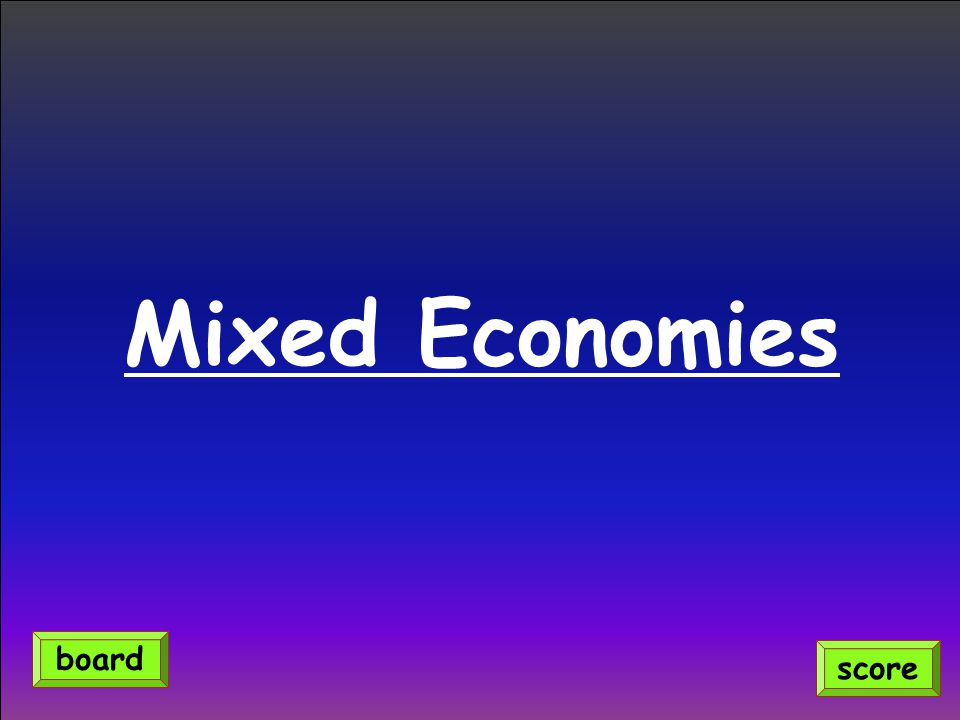 Mixed Economies board score