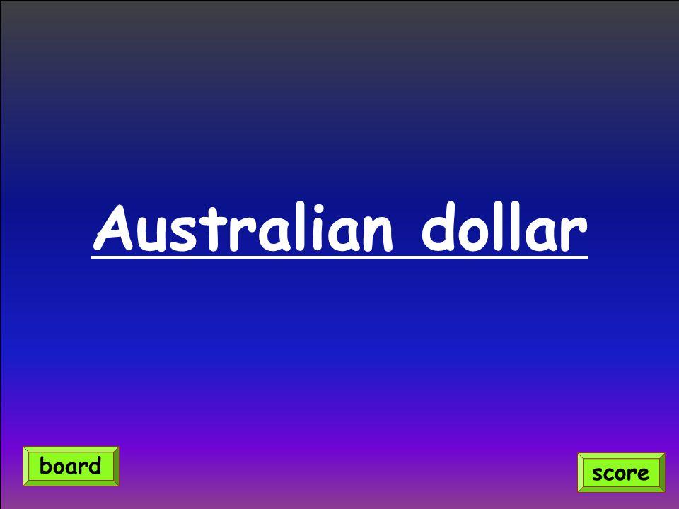 Australian dollar board score