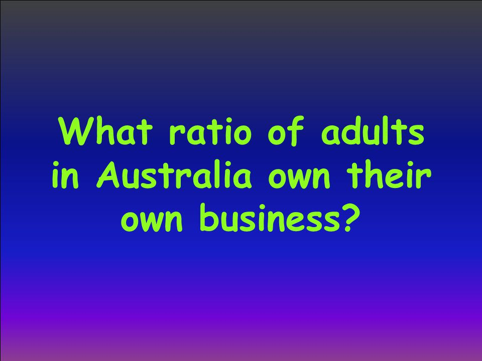 What ratio of adults in Australia own their own business