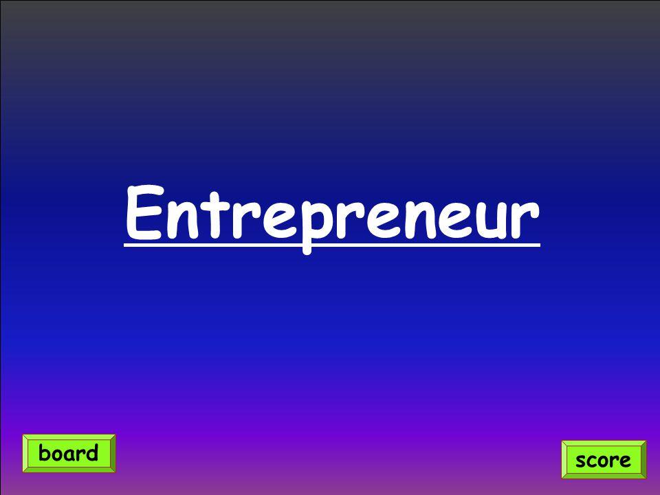 Entrepreneur board score