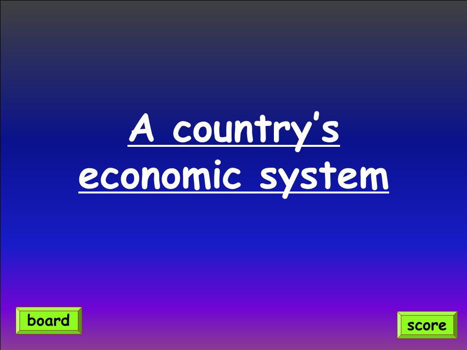 A country's economic system