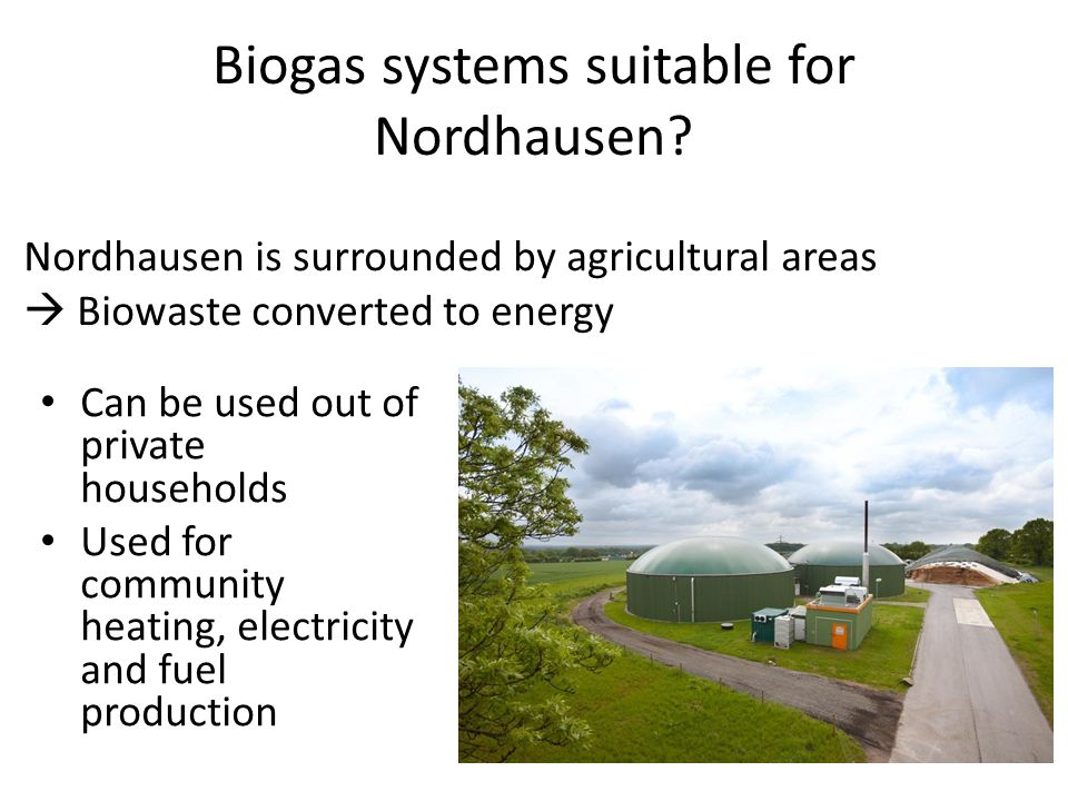 Biogas systems suitable for Nordhausen