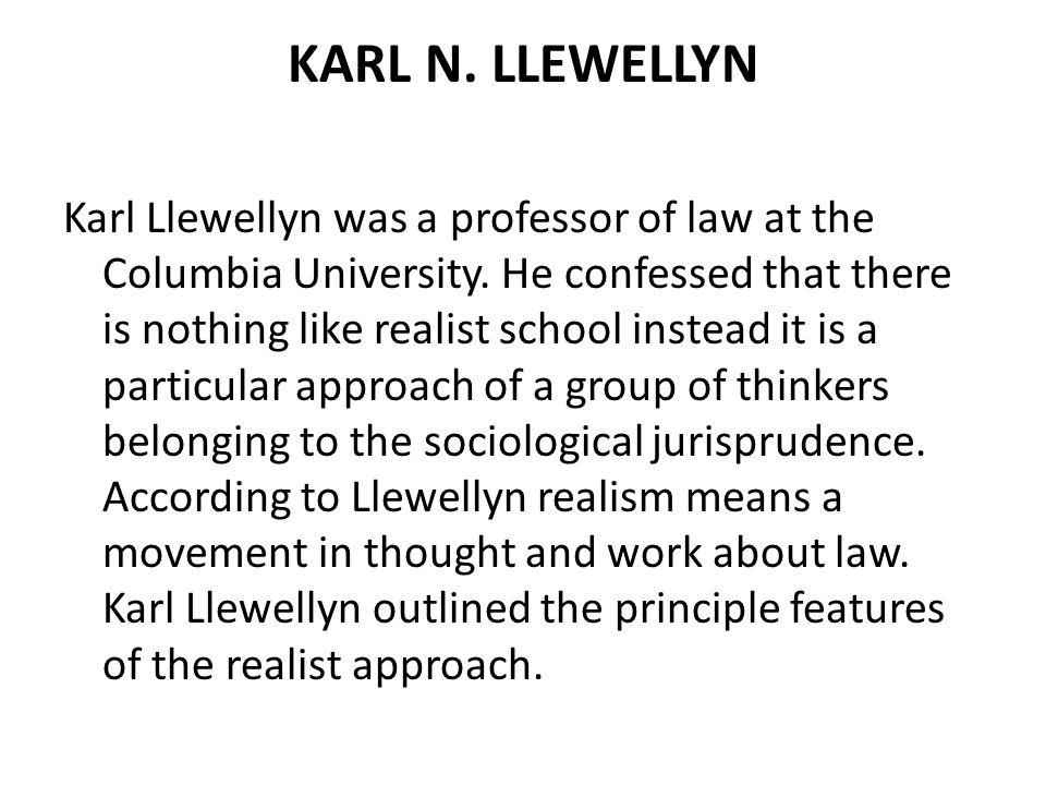 KARL N. LLEWELLYN