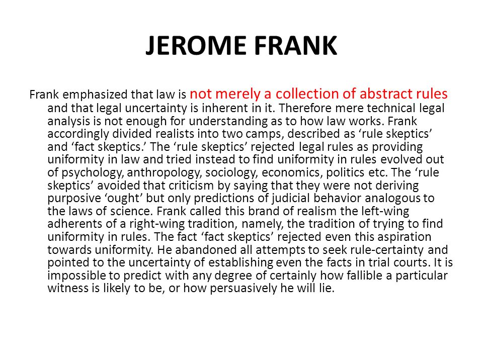 JEROME FRANK