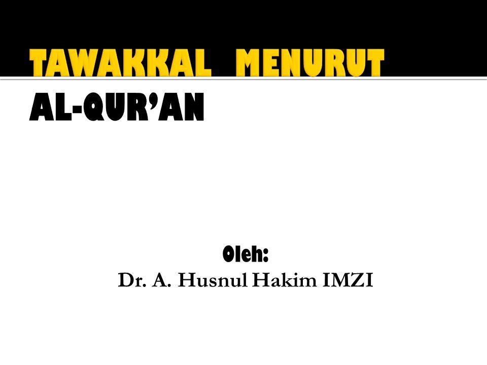 TAWAKKAL MENURUT AL-QUR'AN