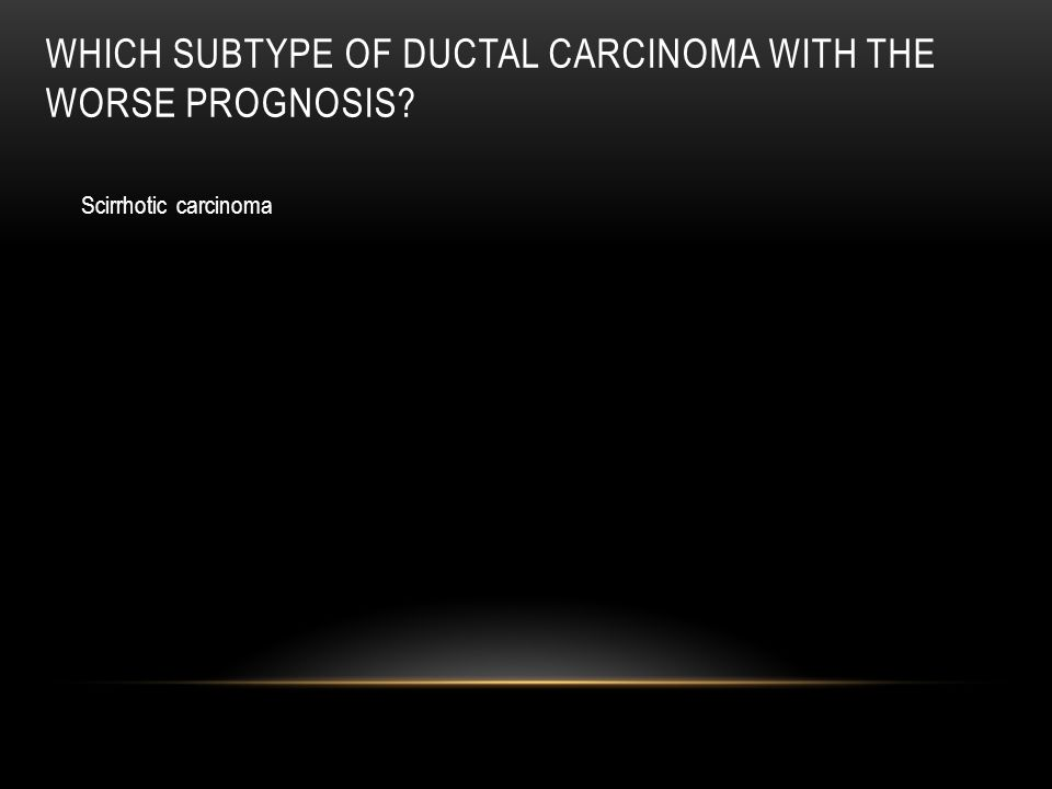 Which subtype of ductal carcinoma with the worse prognosis